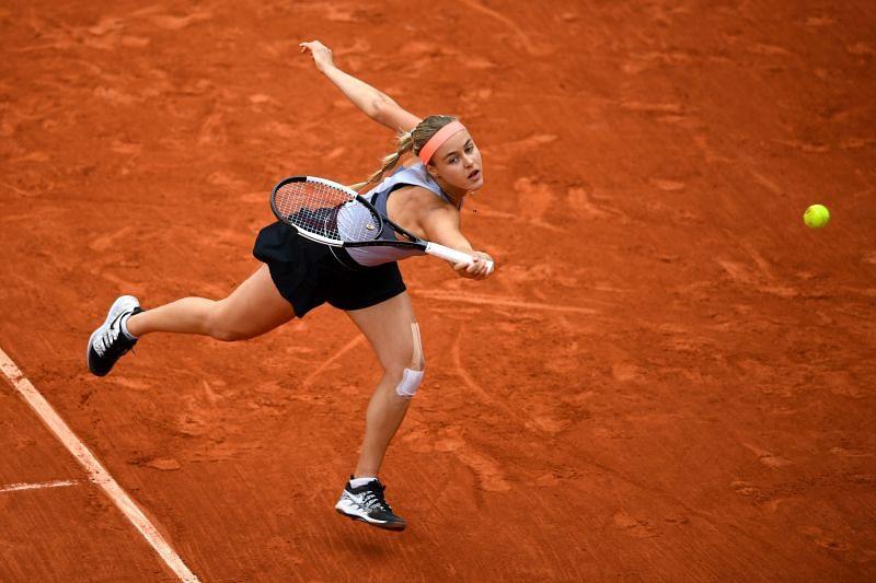 Anna Karolina Schmiedlova at the 2019 French Open at Roland Garros