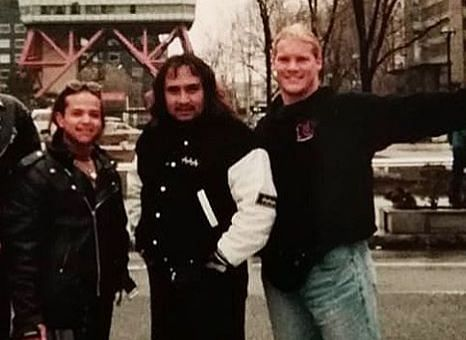 Rey Mysterio (L) with Chris Jericho (R) in Japan