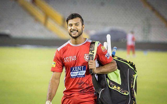 Kings XI Punjab star Mayank Agarwal during a practise session (file pic)