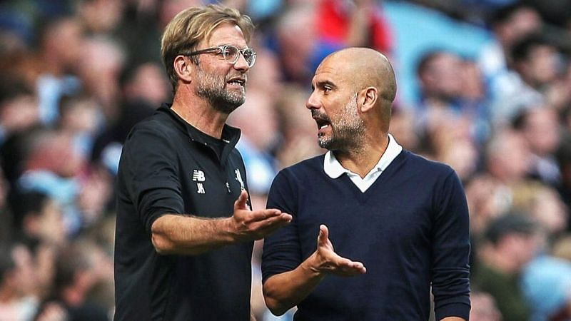 Pep Guardiola (right) has arguably made Jurgen Klopp a better manager.