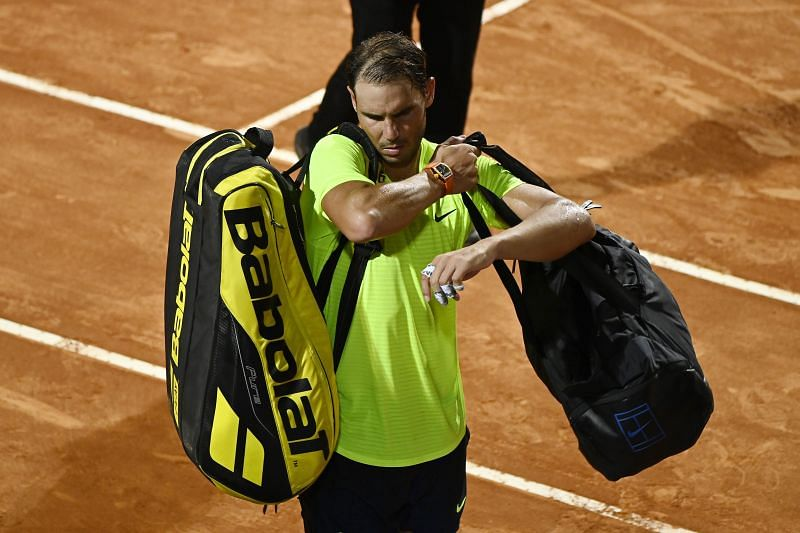 Rafael Nadal departed from the Italian Open on Saturday.