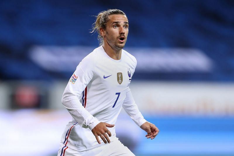 Antoine Griezmann of France looks on during the UEFA Nations League