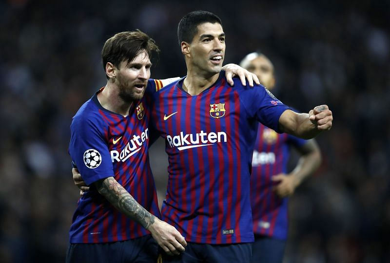 Messi and Suarez in action for Barcelona