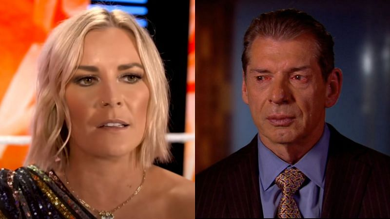 Renee Young and Vince McMahon.
