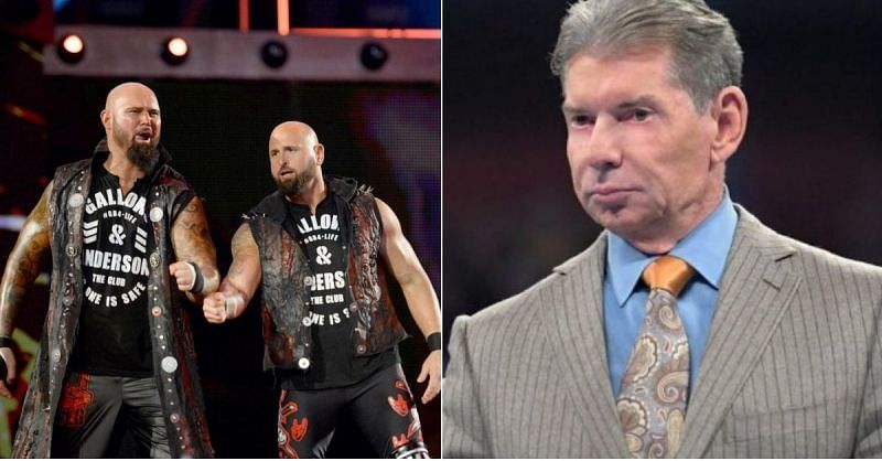 Luke Gallows and Karl Anderson; Vince McMahon