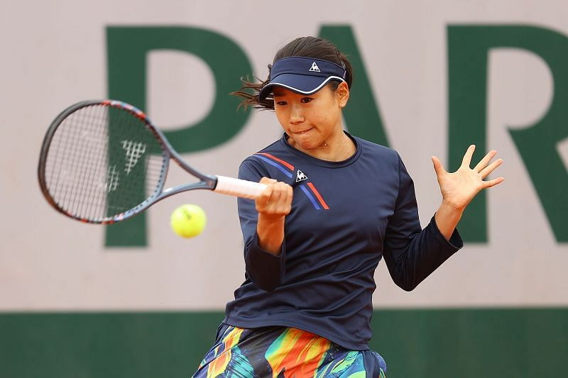 Nao Hibino at the 2020 French Open