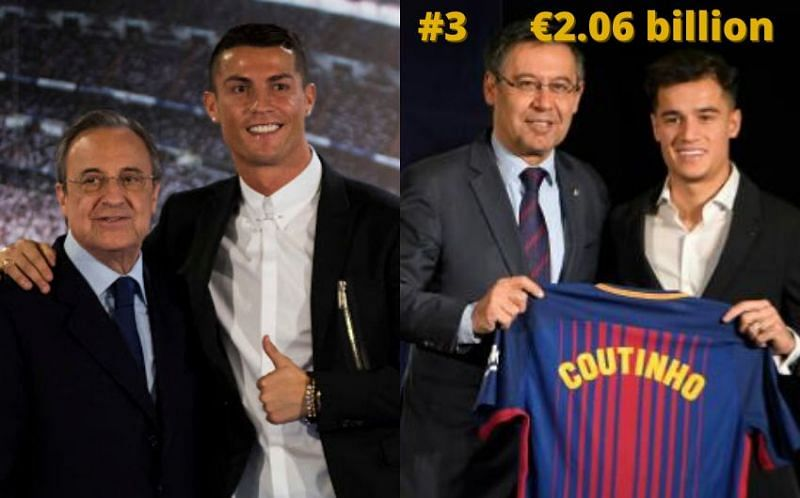 Real Madrid and Barcelona have both been heavy spenders in the 21st century