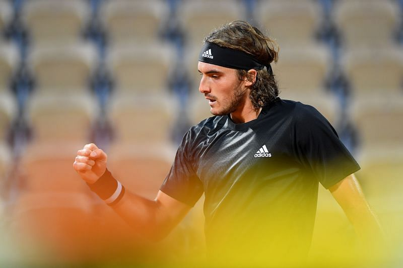 Stefanos Tsitsipas at the 2020 French Open