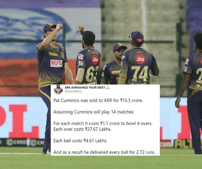 Pat Cummins had a nightmare IPL 2020 debut