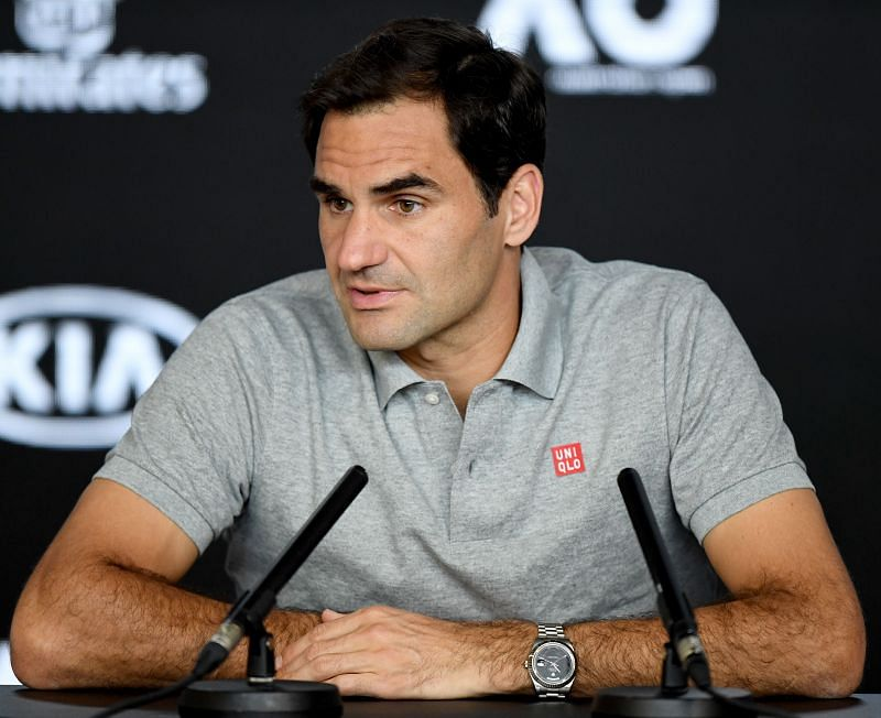 Roger Federer, the highest-earning athlete in sports for this year as per Forbes, at the2020 Australian Open.