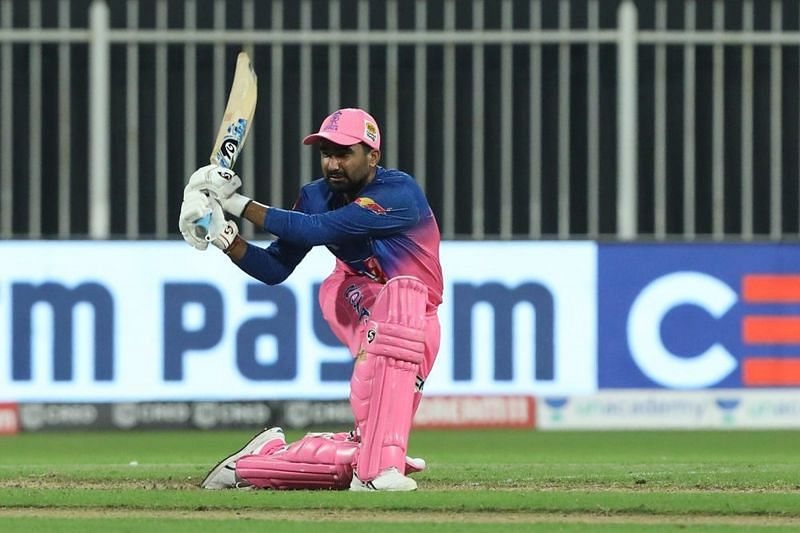 Rahul Tewatia will be in action against KKR in match 12 of IPL 2020 (Image credits - IPLT20.com)
