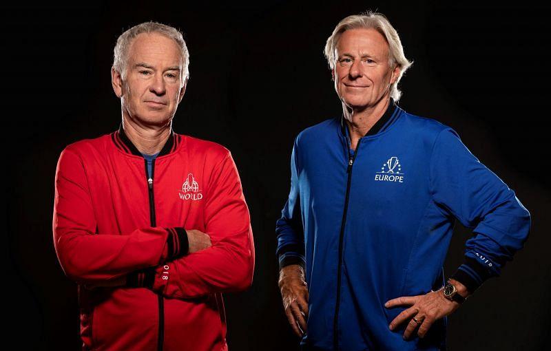 John McEnroe (L) and Bjorn Borg