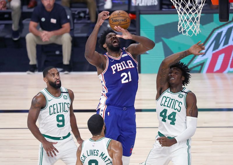Boston Celtics barely had to sweat to sweep the 76ers