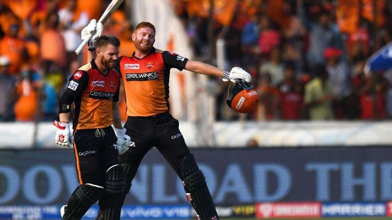 David Warner (L) and Jonny Bairstow (R) scored 692 runs and 445 runs respectively in IPL 2019. (Image Credits: DNA India)