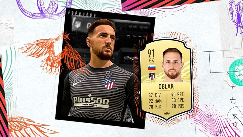 Jan Oblak is the best man between the sticks in Fifa 21 (Image Credits: EA Sports)