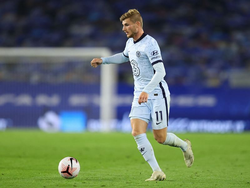 Timo Werner of Chelsea in action in the Premier League