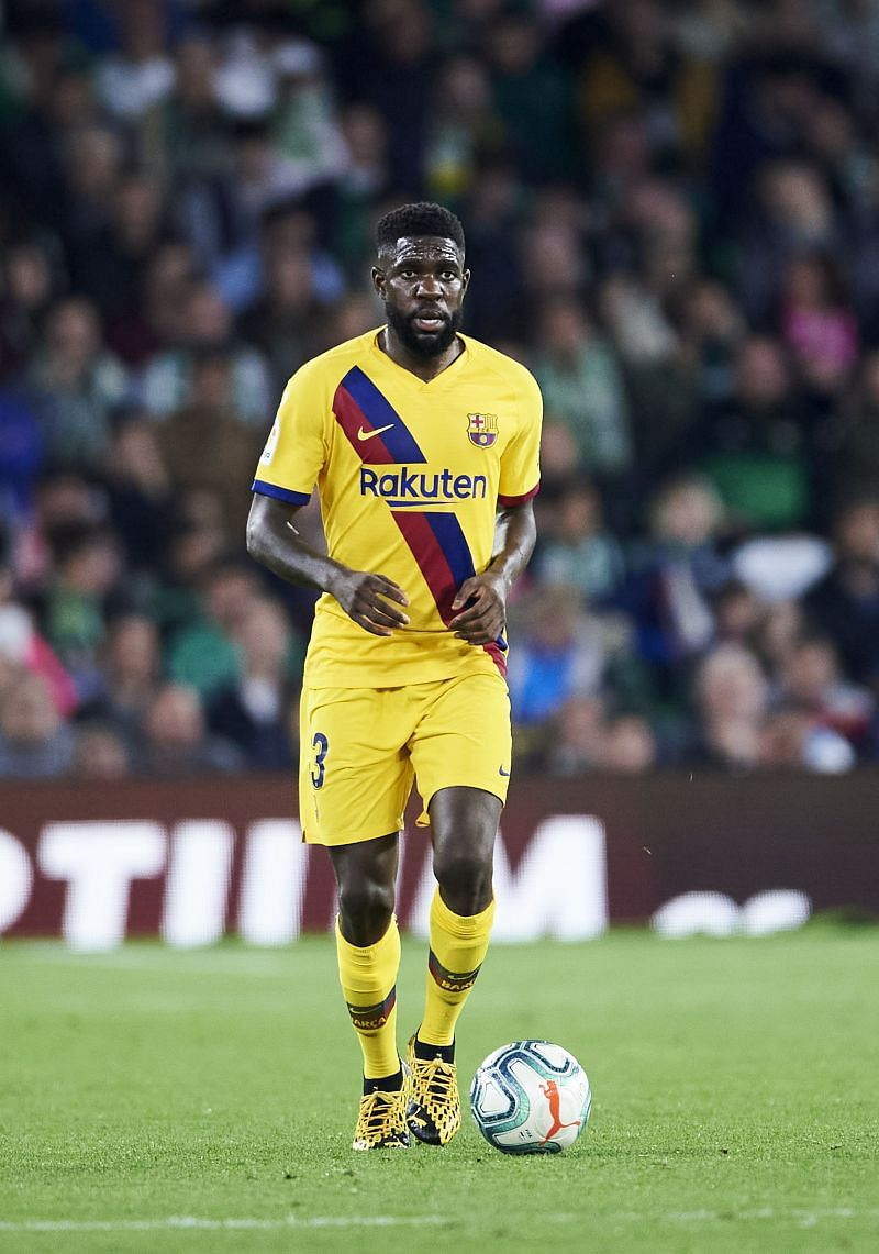Samuel Umtiti has been made available by FC Barcelona.