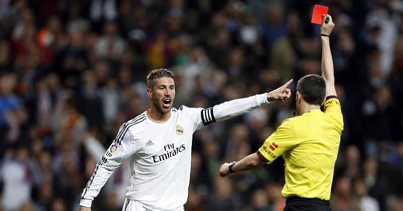 Sergio Ramos has seen a lot of red cards in his La Liga career