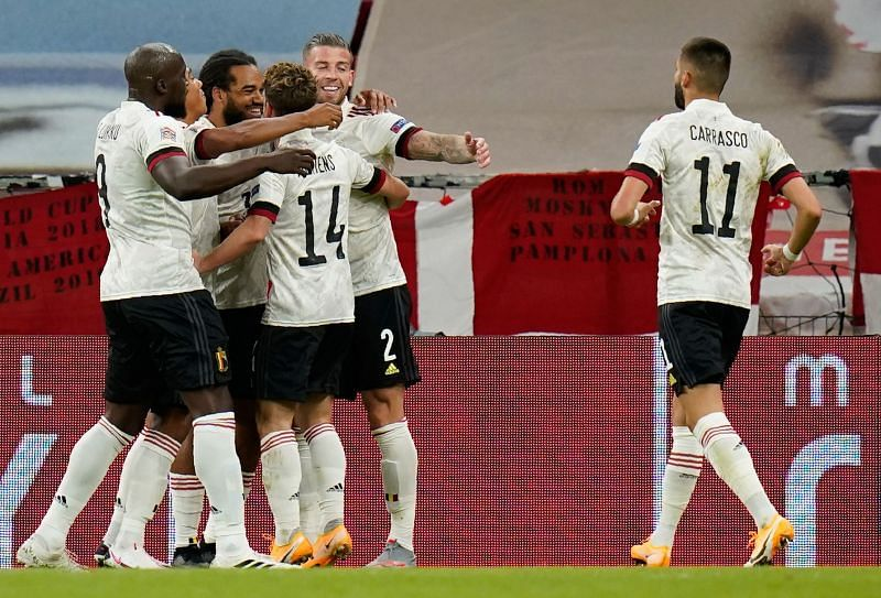 Belgium won 2-0 against Denmark in their opening match of the UEFA Nations League 2020-21