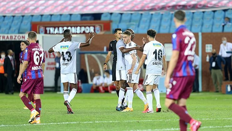 Besiktas won their first game of the Turkish Super Lig 2020-21 against Trabzonspor 3-1