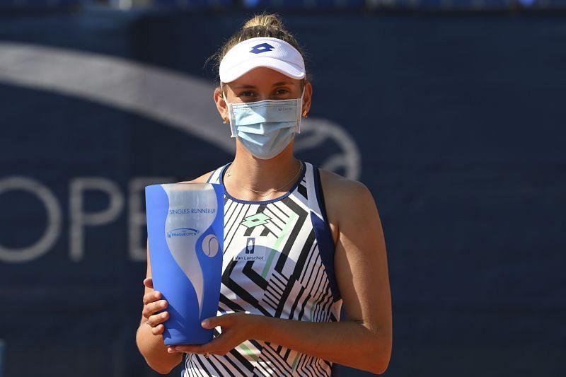 Elise Mertens at the 2020 Prague Open.