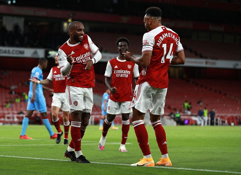 Alexandre Lacazette once again opened the scoring for Arsenal