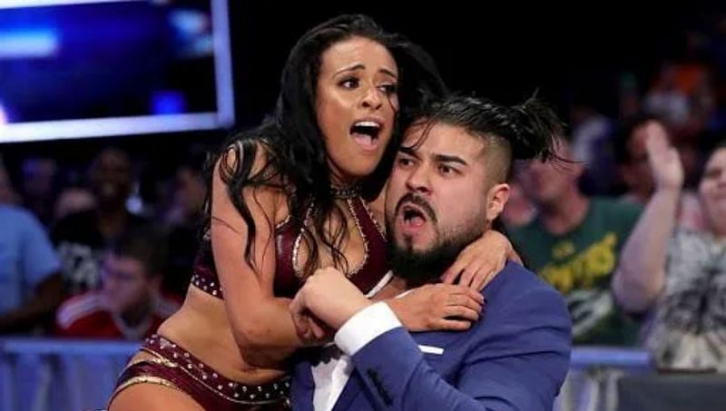 Zelina Vega with Andrade in WWE