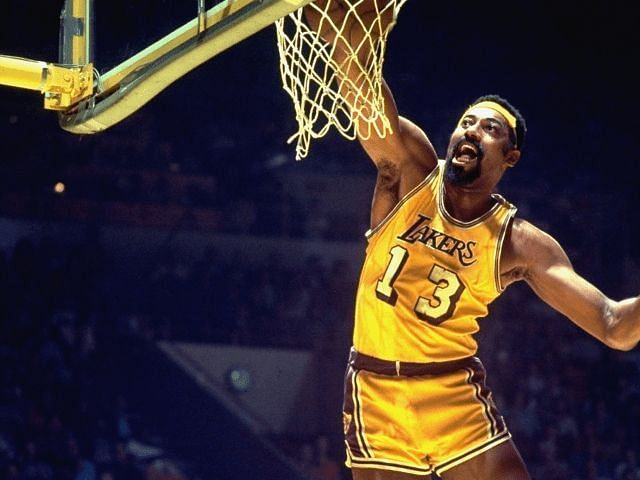 The legendary Wilt Chamberlain in action for the LA Lakers [Credit: LakerNation]