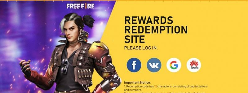 Rewards Redemption Centre for Free Fire codes