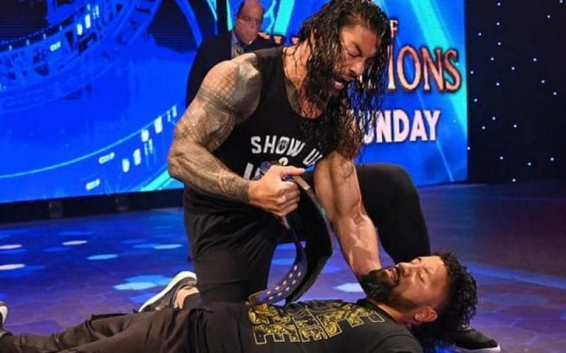 Roman Reigns was victorious over Jey Uso