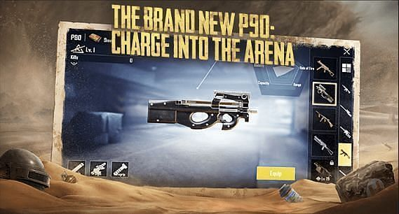 PUBG Mobile P90 map location, damage, and more
