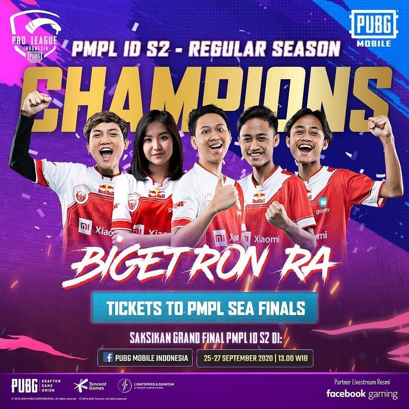 PMPL S2 Indonesia regular season champions