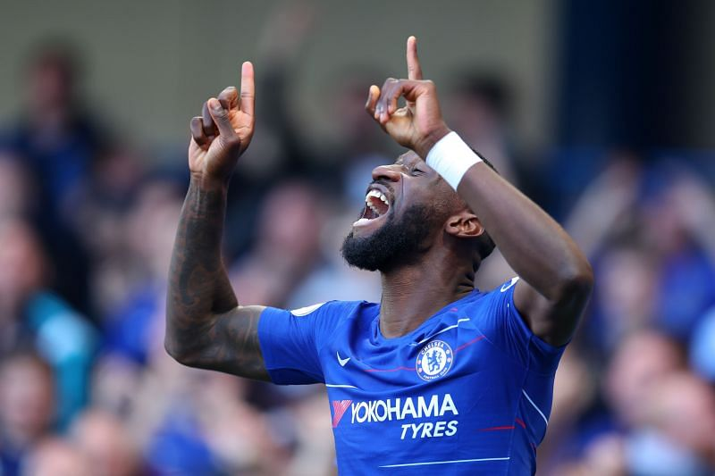 Chelsea star Rudiger in action for the Blues