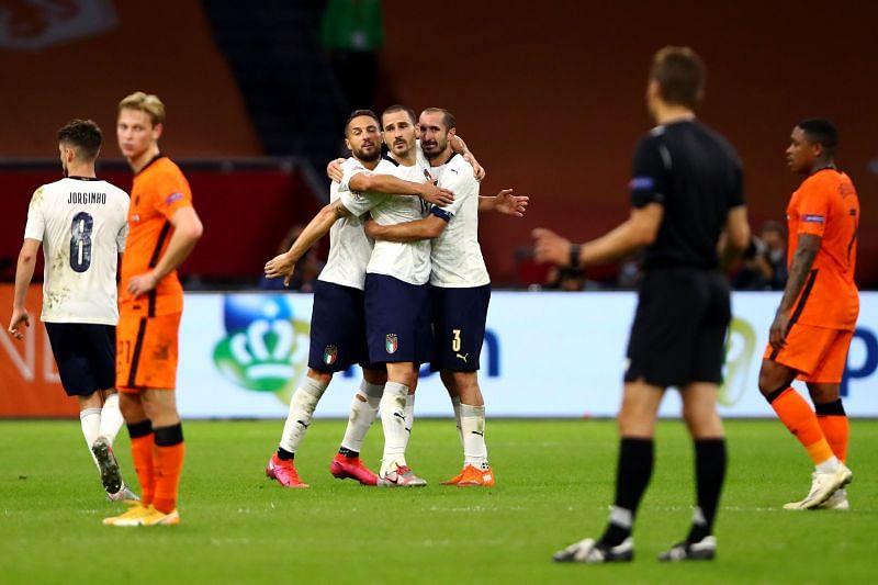 इटली नेशंस लीग में अपने ग्रुप में शीर्ष पर पहुंची