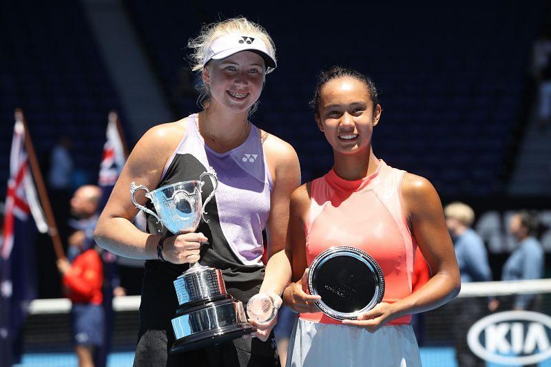 Clara Tauson (left) is a junior Australian Open champion