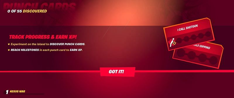 Fortnite Season 4 has punch cards which provide XP points to players (Image Credits: Epic Games)