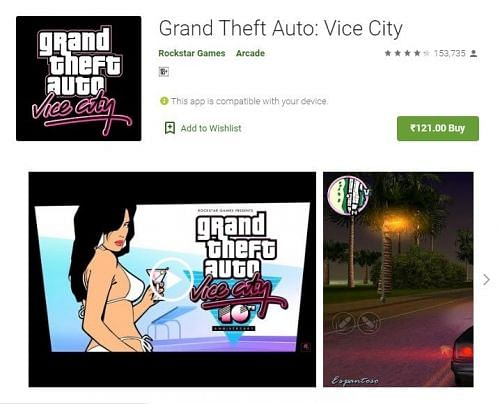 GTA Vice City on Google Play Store