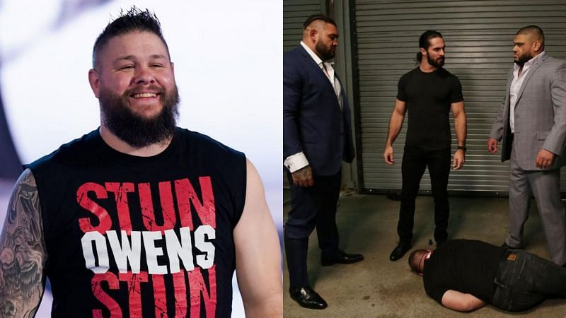 Kevin Owens was attacked on multiple occasions by AOP during his feud with Seth Rollins.