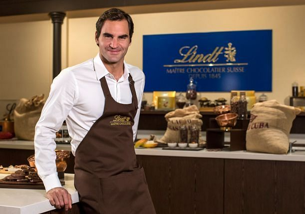 Roger Federer has been a top ambassador for Lindt Chocolate since 2009
