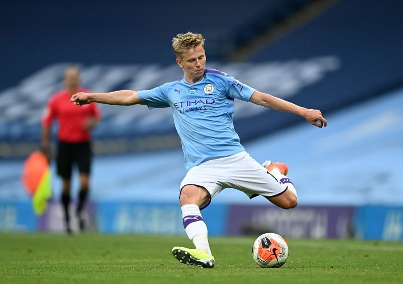 Zinchenko in action for Manchester City