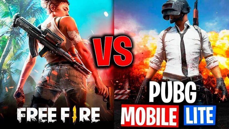 Free Fire vs PUBG Mobile Lite (Image credits: WallpaperCave)