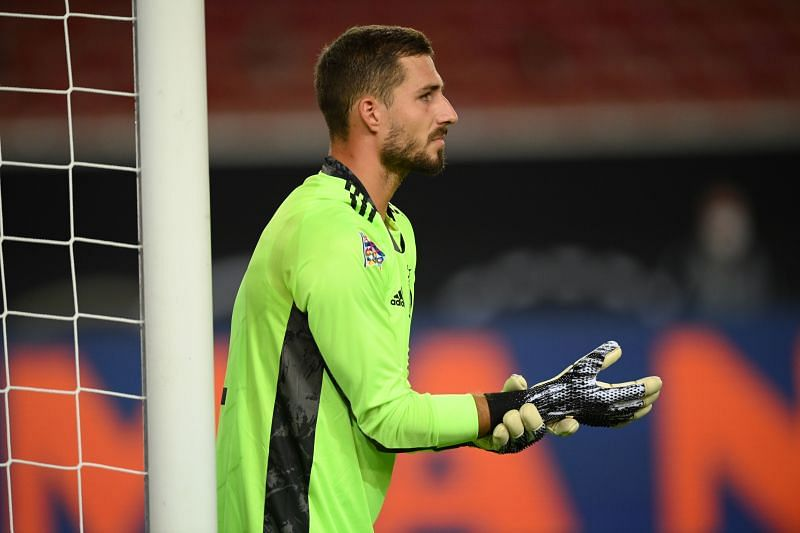 Kevin Trapp looked uncomfortable in the German goal
