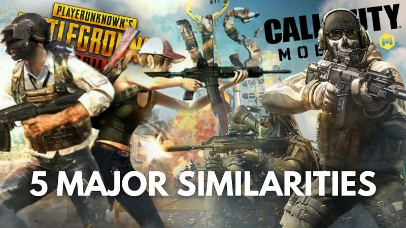 PUBG Mobile vs COD Mobile: 5 major similarities