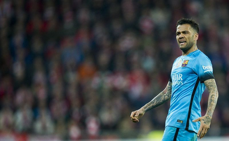 Dani Alves is regarded as a Barcelona legend