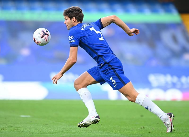 Chelsea defender Marcos Alonso in action