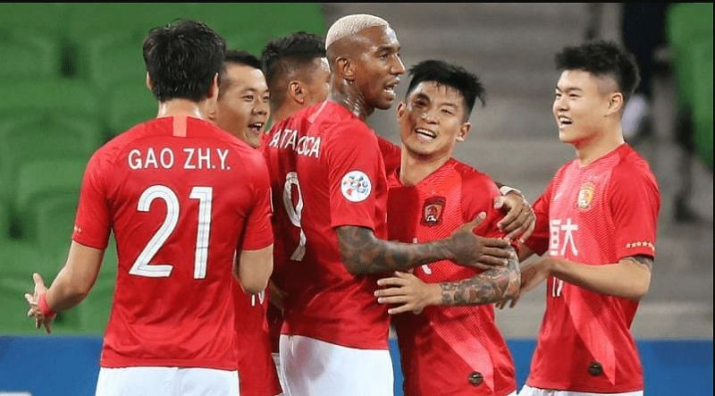 Guangzhou Evergrande take on Shenzhen FC