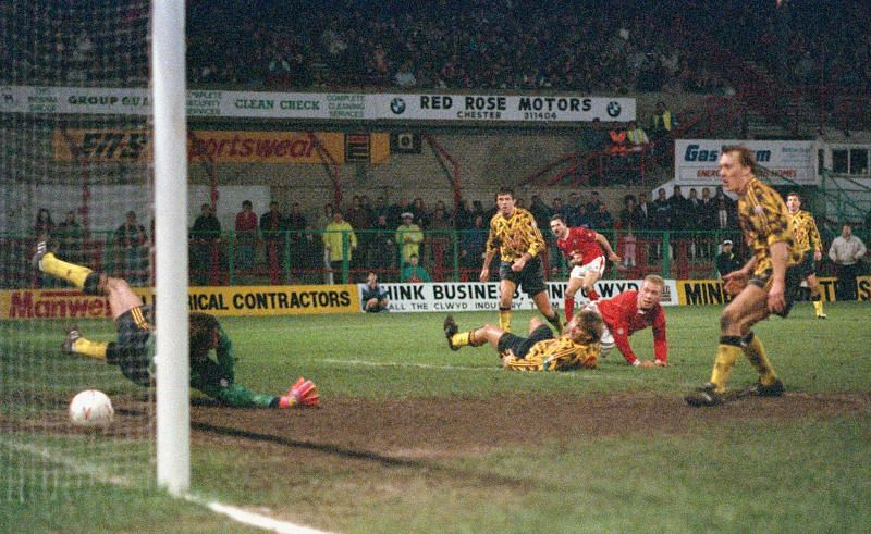 Wrexham famously beat Arsenal in the third round of the FA Cup in 1992.