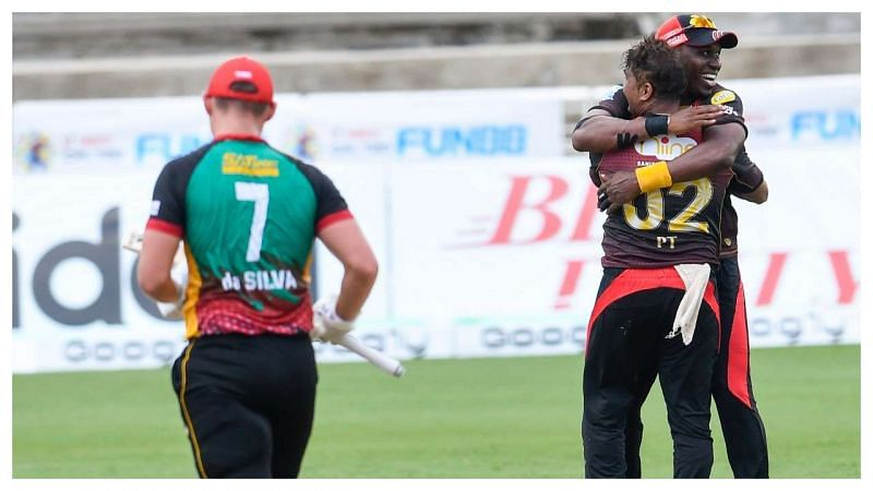 Joshua da Silva(L) has been a bright spark in what has been a disappointing CPL season for the Patriots