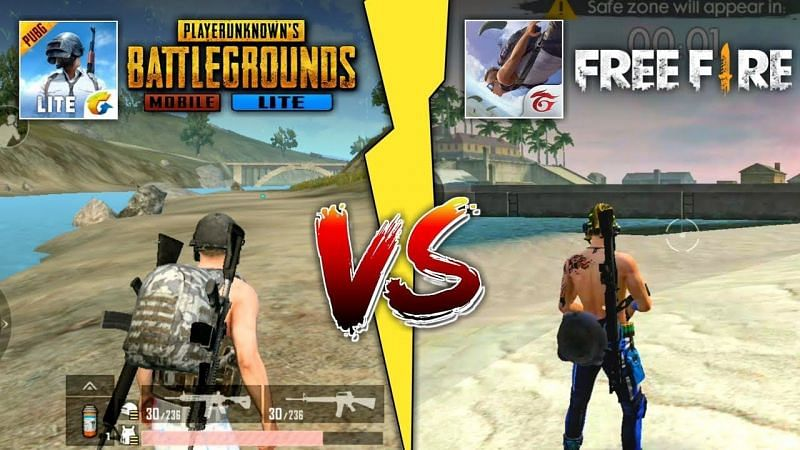 Differences between PUBG Mobile Lite and Free Fire (Image Credits: Techno Gamerz, YouTube)