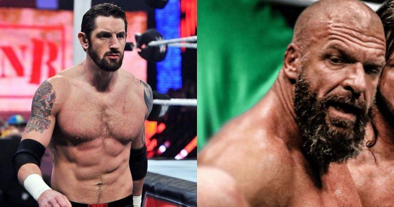 Wade Barrett and Triple H.